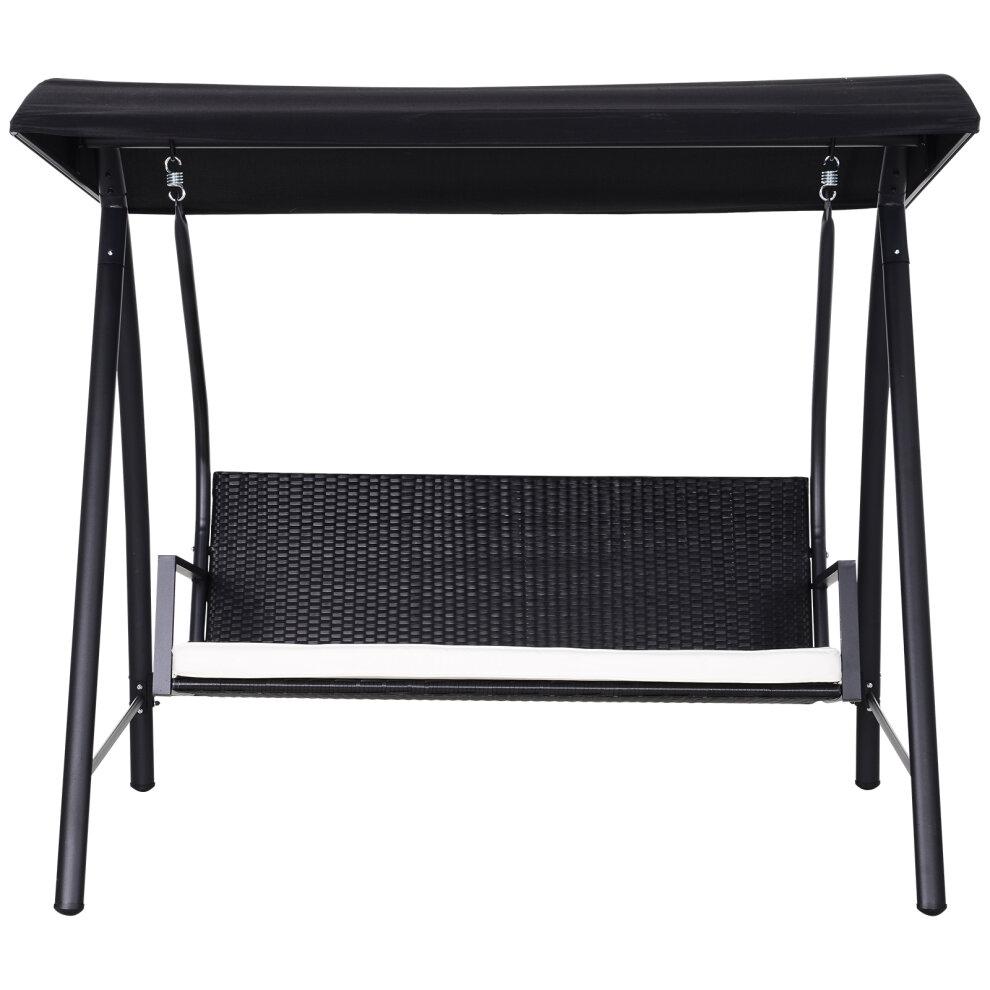 Outsunny Outdoor Garden Rattan Swing Chair Hammock 3