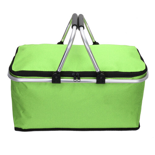 (green) Folding Lunch Picnic Camping Cooler Hamper Bag
