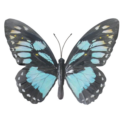 (Cyan) Primus Large Metal Butterfly Garden Wall Art Gift