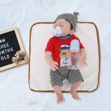 "20"" Real Life Reborn Baby Dolls Full Body  Newborn Doll Boy Gift"