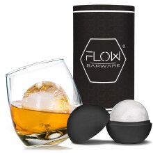Rocking Whiskey Glass & Mega Ice Ball Gift Set   Whiskey Glass Set