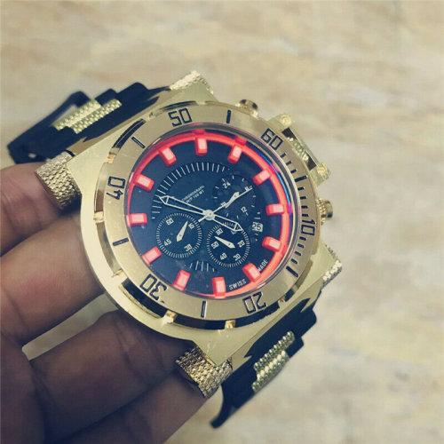 Quartz Luxury Rare Watch Watches 4 Dials Date Chronograph Wristwatch