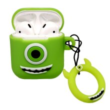 BWD Airpod Case Cover Green Novelty Cartoon Silicone Skin 1st/2nd Gen