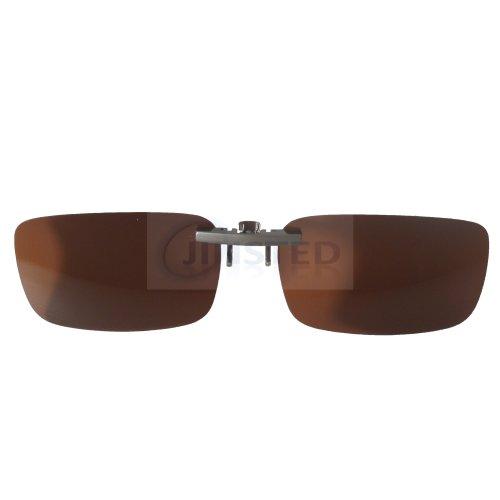 High Quality Brown Polarised Clip On Sunglasses ACP012