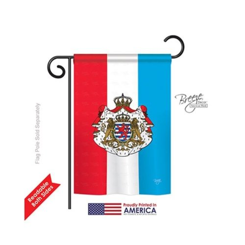 Breeze Decor 58199 Luxembourg 2-Sided Impression Garden Flag - 13 x 18.5 in.