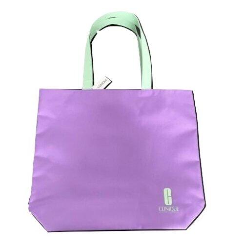 Clinique Tote Beach Shopping Bag Purple & Mint Green