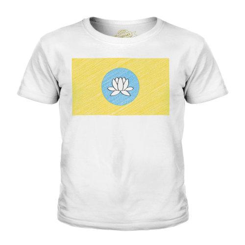 Candymix - Kalmykia Scribble Flag - Unisex Kid's T-Shirt