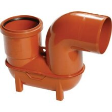 """Polypipe Lowback 'P' Trap (Spigot Outlet/Socket Inlet) 4""""/110mm [UG498]"""