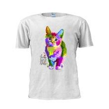 Home Sweet Home Rainbow Cat T Shirt Fashion Trendy Tee Unisex Men T Shirt