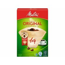 Melitta Original Coffee Filters Size 1x4, 80 Coffee Filters, For Filter Coffee Makers, Brown