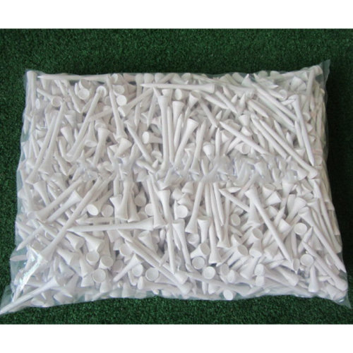 1000PCS White Wooden Straight Golf Tees Golf Tee 70mm brand New