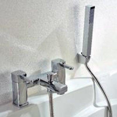Square Nero Bathroom Bath shower mixer tap chrome Brass