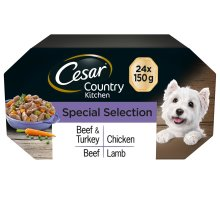 CESAR Country Kitchen Dog Trays Special Selection in Gravy 8x150g (Pack of 3)