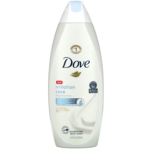 Dove, Nourishing Body Wash, Irritation Care, Fragrance Free, 650ml