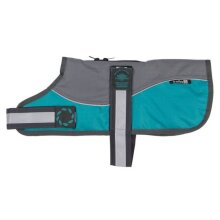 """Outhwaite Reflective Grey/Teal  Padded Harness Coat w/o collar 22"""" (56cm) - 262222"""