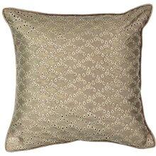 """Beautyrest Sandrine Eyelet Decorative Pillow 16"""" x 16"""" Gold"""