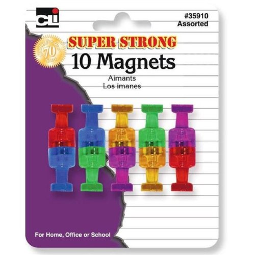 Charles Leonard CHL35910BN Super Strong Magnets - Pack of 6