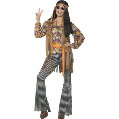 Mens Womens Hippie Waistcoat 60s 70s  Unisex Fancy Dress Accessory