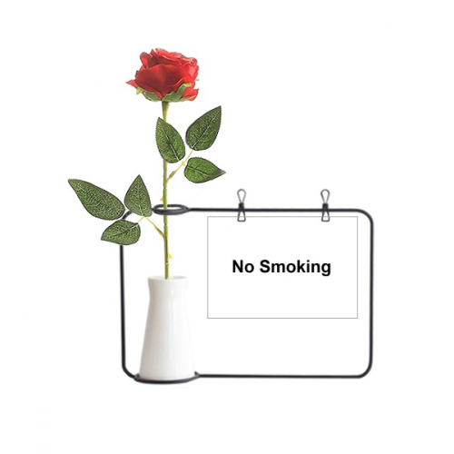 No Smoking Warning Symbol Artificial Rose Flower Hanging Vases Decoration Bottle