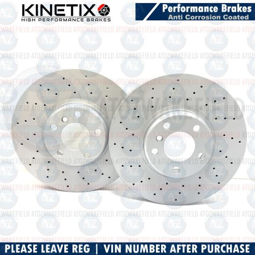 FOR BMW 330i G20 M SPORT FRONT DRILLED PERFORMANCE BRAKE DISCS PAIR 348mm