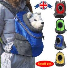 Pet Backpack Portable Cat Dog Travel Double Shoulder Bag