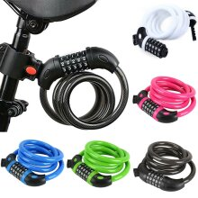 Anti-Theft Resettable Bike Scooter Lock Cycle Strong Security Spiral Cable Locks