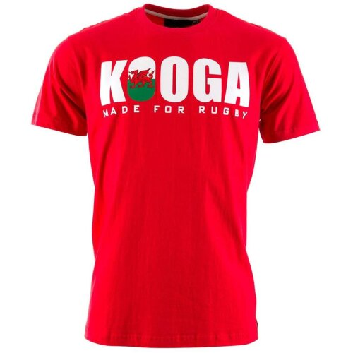 Kooga Unisex's Wales International Rugby Logo T-Shirt-Red, Small
