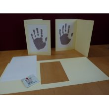 Inkless Handprint Footprint Baby Frame Card Kits, Child or Newborn Keepsake