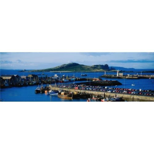 Howth Harbour & Irelands Eye Co Dublin Ireland Poster Print by The Irish Image Collection, 44 x 14 - Large