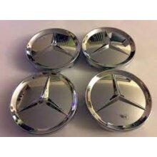 Mercedes Benz Alloy Wheel Centre Cap Chrome Badge Emblem 65mm Shiny x4