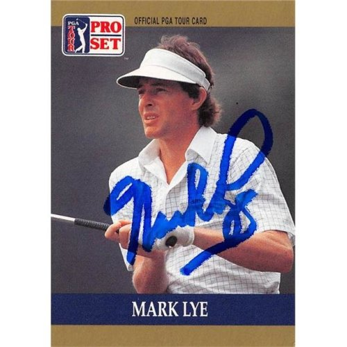 Autograph Warehouse 527993 Mark Lye Autographed Trading Card - Golf, PGA Tour & San Jose State, SC 1990 Pro Set No.54
