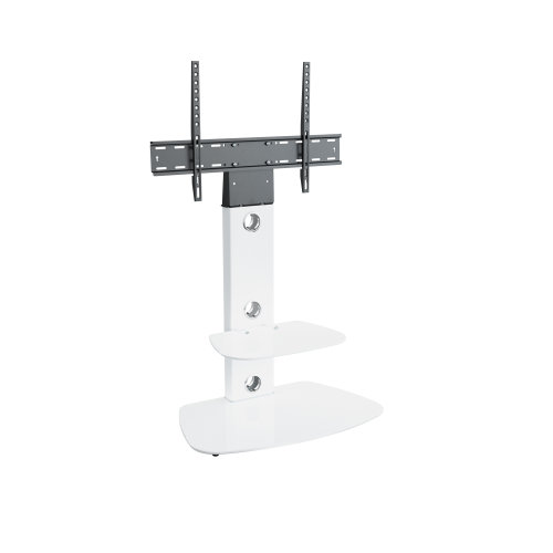 """King White Cantilever 32-60"""" TV Stand With Brackets"""