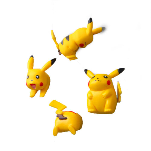 4pcs Pikachu Refrigerator Sticker Magnetic Buckle Fridge Magnets Home