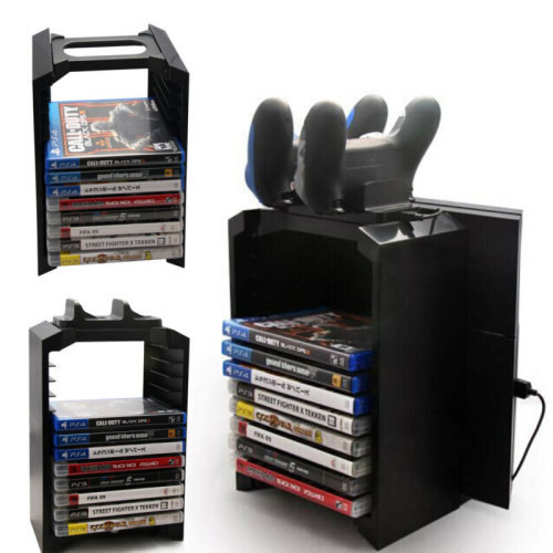 For Xbox One PS4 Console Games Blu Ray Discs Storage Stand Tower
