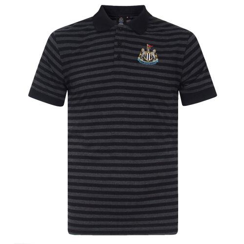 Newcastle United FC Official Football Gift Mens Yarn Dye Marl Striped Polo Shirt