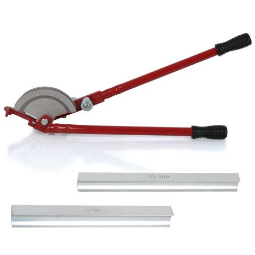 Heavy Duty 15/22mm Pipe Bender Plumbers Tool Handheld Bend Tube Machine