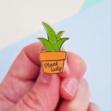 Mystery Pins Plant Lady Enamel Pin Badge
