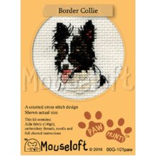 Mouseloft - Counted Cross Stitch Kit - Paw Prints Collection - Border Collie