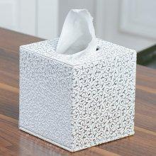 Tissue Box Tissue Holder Rectangular Cube Cover Silver