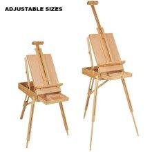 Wooden Easel Adjustable Artist Craft Folding Durable Sketch Painting