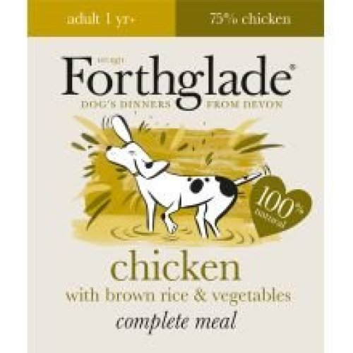 Forthglade Complete Meal Adult Chicken With Brown Rice & Veg (395g) (Pack of 18)