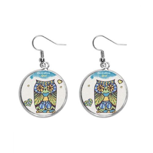 Decorative Love Owl Ear Dangle Silver Drop Earring Jewelry Woman