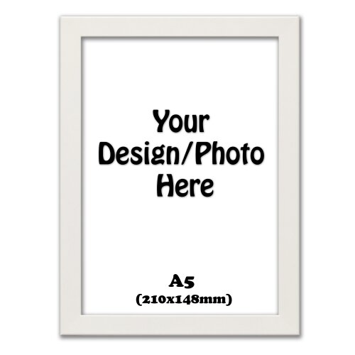 A5 White Photo Frame, New Flat Profile Photo Picture Frame (210x148mm)