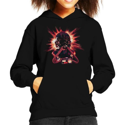 Original Stormtrooper Imperial Pilot TIE Helmet Explosion Kid's Hooded Sweatshirt