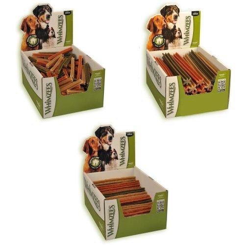 (Pack of 150 x 120mm, May Vary) Whimzees Vegetarian Dog Dental Stix | Display Box