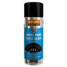 Hycote Gloss Black Wheel Spray Paint - 400ml