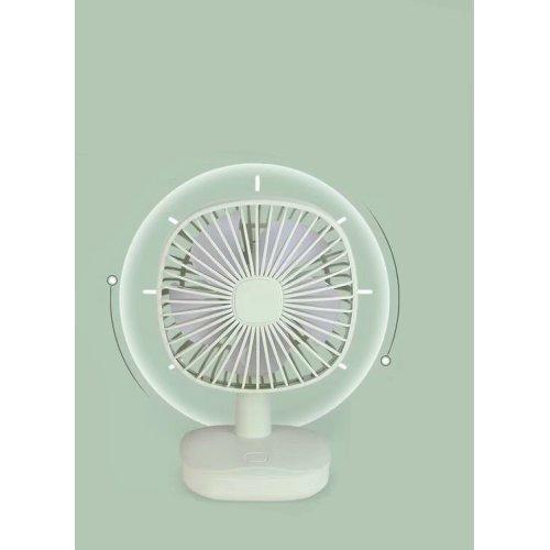 (White) Mini Rotating Desk Fan