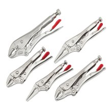 Crescent Locking Pliers Set 5 Piece (Curved Jaw & Long Nose)