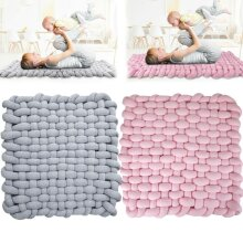 Baby Knotted Braided Plush Mat Rug Knot Floor Cushion
