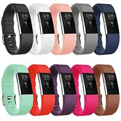 BAS Bands & Straps compatible with Fitbit Charge 2 / Fitbit Charge 2 HR Strap Band Wristband Watch Replacement Bracelet Accessories